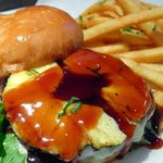 Teriyaki pineapple burger