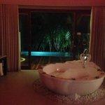 Villa bathroom + private pool