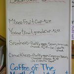 The Specials of the Day at Cinnamon Roll Fair-Kihei, Maui