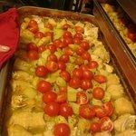 Baccalà al forno con patate e pomodorini pachino