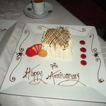 Siempre sent us this after dinner on our anniversary. Tres Leches Cake