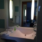 Clean, bright bathroom