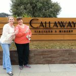 Cheri and me at Callaway Vineyard and Winery