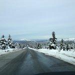 La ruta hacia el centro de Esqui