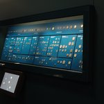 A view of one of the more than 15 displays of coins