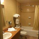 Nice fully tiled bathroom