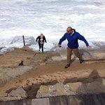 Le onde erano forti in spiaggia!