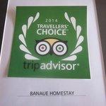 Award from Trip Advisor- Traveller's Choice 2014