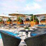 Rooftop Pool Bar Cabanas