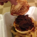 Yeah apparently the patty was just grilled properly and the Bun was just lightly toasted...