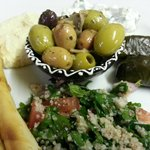 Mezze Platter from the Cafe