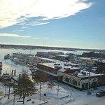 Ask for high room overlooking harbor - quiet & interesting