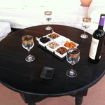 Wine and appetizers on the terrace