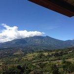 Volcan Baru view from Cabañas El Parador
