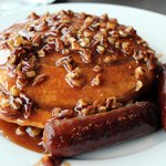 Cafe Modern - Sticky Bun Pancakes With Sausage Links