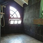 Stone floor shower