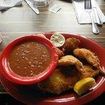 Shrimp, scallops, fish combo