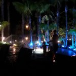 The spa tub area was very pretty at night and day