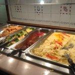 Hot buffet items at the Alpine Lodge Restaurant inside Inn of the Hills, Kerrville TX