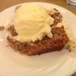 Carrot cake ala mode at Alpine Lodge Restaurant, Kerrville.