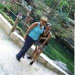 y al finalizar, baño relajante y tonificante en el Cenote