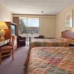 Standard Two Double Bed Room with MicroFridge