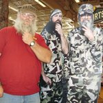 Posing with a couple of the Duck Dynasty guys cardboard standup in the Sevierville Bass Pro Shop