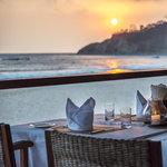 Dinner on our sunset bar