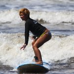 surfing with the NORTH SHORE SURF GIRLS