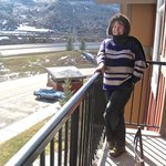 Margaret on the balcony