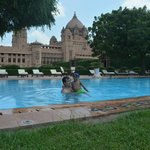 Pool with Umaid bhawan in the backdrop