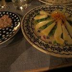 bruschetta and cheese salad
