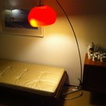 lamp and chaise