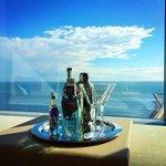 Blick aus dem Zimmer auf das Meer