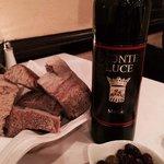Bread, wine & olives