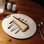Superb Cheese cake which also comes with white Chocolate ice cream. I was too full to eat it.