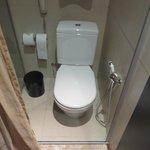 les wc à l'étroit!!