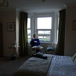 Quintessentially English - a cup of tea and cake by a window with a sea view!