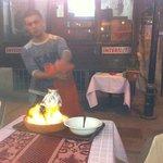 Yacob serving the special Kebab