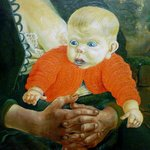 "Detail of Otto Dix ""Mother and Child"""