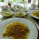 Mittagessen mit individuell zusammengestelltem Gemüse