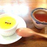 デザートとペン茶。爽やか。