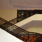 The stairs in the main lobby lounge
