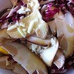 Porcini crudi in insalata