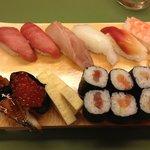 Yummy sushi sampler