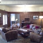 Cosy leather armchairs