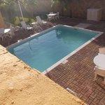 Espace piscine au 18 février 2014.