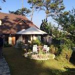 Peaceful garden, outdoor dinning