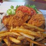Fried Haddock fish sandwich