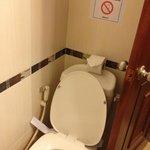 Clean toilet.